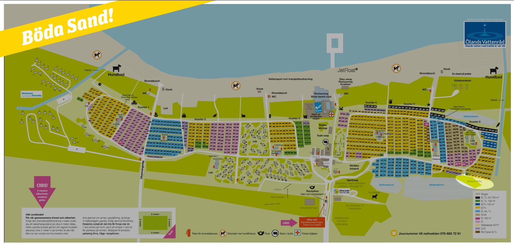böda camping karta Villavagn 3, 36 m², 6 bäddar   Böda Sand böda camping karta